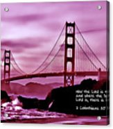 Inspirational - Nightfall At The Golden Gate Acrylic Print