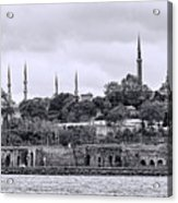 Instanbul In Black And White Acrylic Print