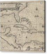 Insulae Americanae In Oceano Septentrionale Acrylic Print