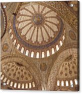 Inter Domes Of Sultan Ahmed Mosque Acrylic Print