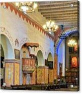 Interior Image Of San Juan Bautista Mission Acrylic Print