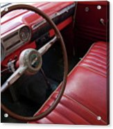 Interior Of A Classic American Car Acrylic Print