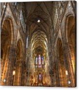 Interior Of Saint Vitus Cathedral Acrylic Print