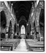 interior of st martins church Birmingham UK Acrylic Print