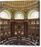 Interior Of The Library Of Congress Acrylic Print