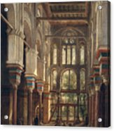 Interior Of The Mosque Of El Mooristan In Cairo Acrylic Print