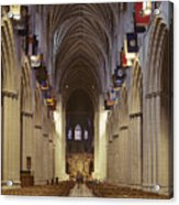 Interior Of The National Cathedral Acrylic Print