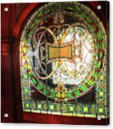 Interior Window At The Pleasant House In Oak Park, Il Acrylic Print