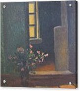 Interior With A Bouquet Acrylic Print
