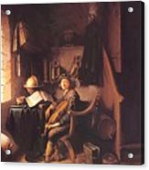 Interior With A Young Violinist 1637 Acrylic Print
