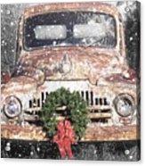 International Christmas Snow Acrylic Print