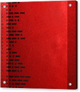 International Morse Code - Black On Red Acrylic Print