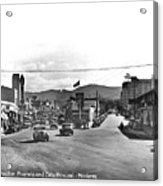Intersection Of Alvarado And Calle Principal St.s, Monterey Circa 1940 Acrylic Print