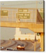 Interstate 44 West At Exit 287, Kingshighway Exit, 1980 Acrylic Print