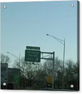 Interstate 70 East At Exit 242b, Jennings Sta. Rd North Exit, 1999 Acrylic Print