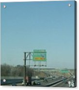 Interstate 70 West Approach Exit 238b, Interstate 170 South Exit, 1999 Acrylic Print