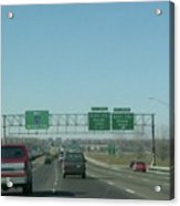 Interstate 70 West At Exit 231b, Earth City Expwy North Exit, 1999 Acrylic Print