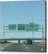 Interstate 70 West At Exit 232, Interstate 270 Exits, 1999 Acrylic Print