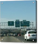 Interstate 70 West At Exit 234, Route 180 West Exit, 1999 Acrylic Print