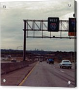 Interstate 70 West At Exit 8b, Interstate 435 North Exit, 1987 Acrylic Print