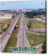 Interstate 74 West At Exit 95b, Route 116 East Exit, 1975  Acrylic Print