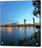 Interstate Bridge Over Columbia River At Dusk Acrylic Print