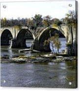 Interurban Bridge At Roche De Bout Acrylic Print