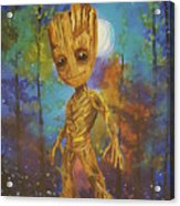 Into The Eyes Of Baby Groot Acrylic Print
