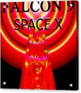 Into The Future Falcon 9 Acrylic Print