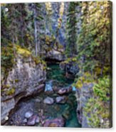 Into The Heart Of Maligne Canyon Acrylic Print