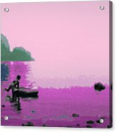 Into The Stillness - Pink Acrylic Print