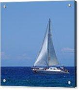 Into The Wild Blue Ocean Acrylic Print