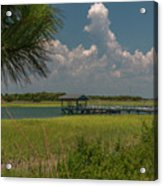 Intracoastal Water In Sullivan's Island South Carolina Acrylic Print