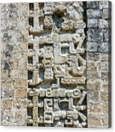 Intricate Details Of Mayan Ruins Acrylic Print
