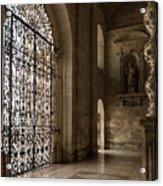 Intricate Ironwork - Lacy Wrought Iron Gates Acrylic Print