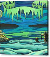 Inuit Love Arctic Landscape Painting Acrylic Print