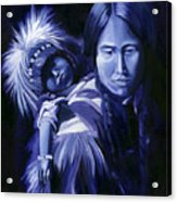 Inuit Mother And Child Acrylic Print