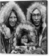 Inupiat Family Portrait - Alaska 1929 Acrylic Print