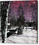 Invernal Landscape Acrylic Print
