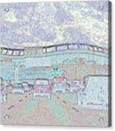 Invesco Field Acrylic Print by Lenore Senior