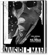 Invisible Man Movie Poster 1933 Acrylic Print