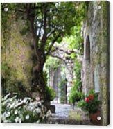 Inviting Courtyard Acrylic Print