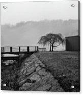 Inwood Hill Park In Fog Acrylic Print