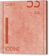 Iodine Element Symbol Periodic Table Series 053 Acrylic Print