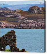 Iona Ruins And Mull Hills Acrylic Print