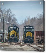 ioneer Lines PREX 912 and 806 at Evansville Indiana Acrylic Print