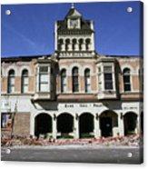 Watsonville I. O. O. F. Building Built In 1893  Damaged By The Loma Prieta Earthquake 1989 Acrylic Print