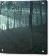 Iowa Fog Rays Acrylic Print