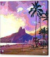 Ipanema Sunset Acrylic Print