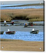 Ipswich River Clammers 2 Acrylic Print